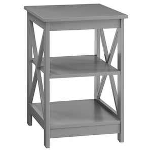 Oxford End Table Gray - Breighton Home