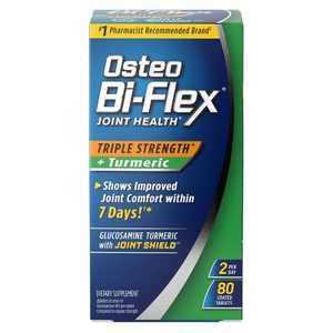 Osteo Bi-Flex Triple Strength & Turmeric Dietary Supplement Tablets - 80ct