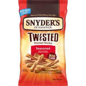 Snyder's of Hanover Pretzels, Seasoned Twisted Pretzel Sticks, 12 oz