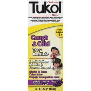 Children's Tukol A+ Cough & Cold - Grape - 4oz