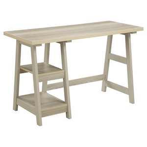 Trestle Desk Weathered White - Breighton Home