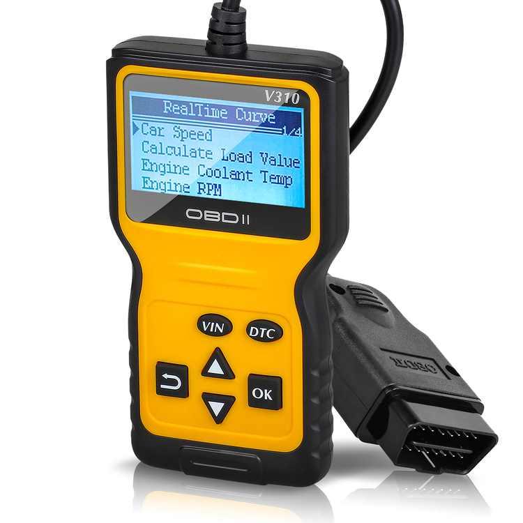 OBD2 Scanner TSV Precision OBDII OBD2 Car Fault Code Reader Comfortable Handheld Car Fault Detector Diagnostic Scan Tool