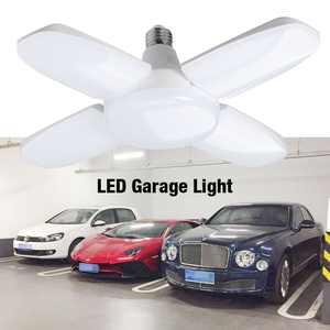 LED Garage Lights, 60W Deformable LED Garage Ceiling Lights 5400 Lumens Led Shop Lights Work E27 Home Ceiling Fixture Lamp