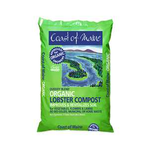 Coast of Maine OMRI Listed Quoddy Blend Lobster Compost Soil, 60 Pound Bag