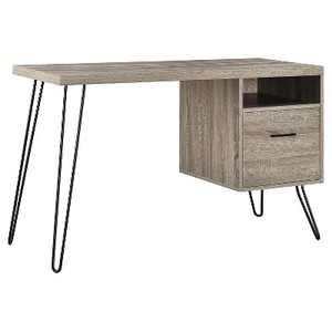 Seasons Hairpin Computer Desk Sonoma Oak/ Gunmetal Gray - Room & Joy