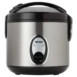 Aroma 8 Cup Rice Cooker - Stainless Steel ARC-904SB