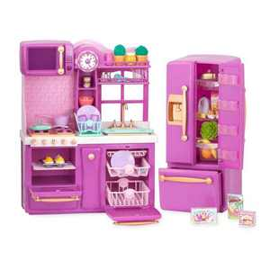 """Our Generation Kitchen Accessory with Play Food for 18"""" Dolls - Gourmet Kitchen Playset - Lilac"""