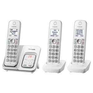 Panasonic Cordless Telephone with Digital Answering Machine 3 Handsets - White (KX-TGD533W)
