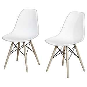 Set of 2 Elba Dining Chairs White/Gray - Buylateral