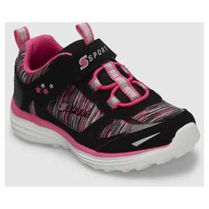 Toddler Girls' S Sport by Skechers Tyro Athletic Shoes - Black/Pink