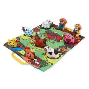Melissa & Doug Take-Along Farm Baby and Toddler Play Mat