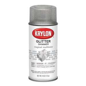 Krylon Glitter Shimmer Spray Paint, 4 oz., Magical Multi-Color