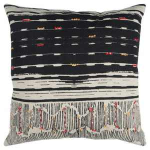 """22""""x22"""" Oversize Boho French Knot Square Throw Pillow - Rizzy Home"""