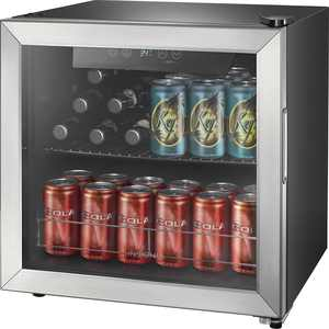Insignia - 48-Can Beverage Cooler - Stainless steel/Silver