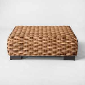 Eldridge Wicker Square Patio Coffee Table - Brown - Smith & Hawken™