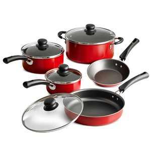 Tramontina 9-Piece Non-stick Cookware Set, Red