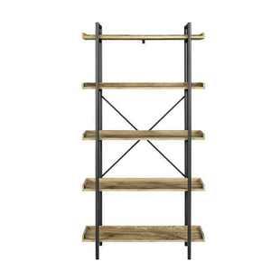"68"" 5 Tray Shelf Urban Pipe X Back Bookshelf - Saracina Home"