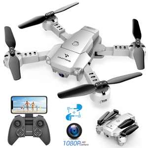 SNAPTAIN A10 Mini Foldable Drone with 1080P HD Camera FPV Wifi RC Quadcopter /Voice Control, Gesture Control, Trajectory Flight, Circle Fly, High-Speed Rotation, 3D Flips, G-Sensor, Headless Mode
