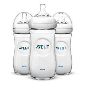 Philips Avent Natural Baby Bottle - Clear - 11oz - 3pk