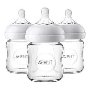 Philips Avent Natural Glass Baby Bottle - 4oz - 3pk