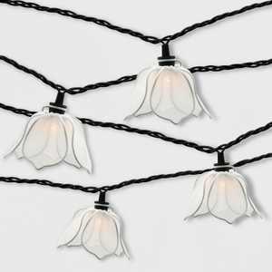 10ct Incandescent Flower Outdoor String Lights White - Threshold™