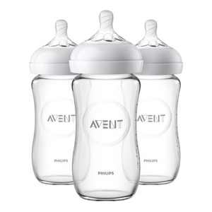 Philips Avent Natural Glass Baby Bottle - 8oz - 3pk