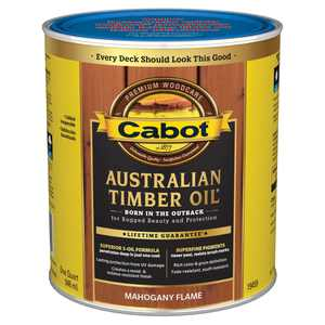 Cabot Australian Timber Oil Exterior Mahogany Flame 1 Qt Case of 4