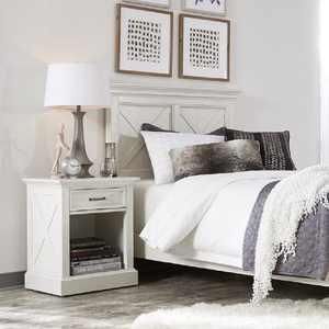 Seaside Lodge Nightstand White - Home Styles