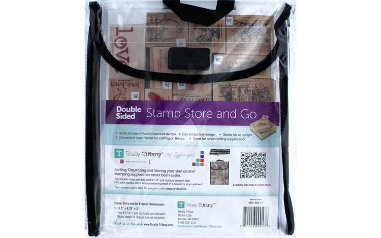"""Double-Sided Stamp Store And Go Bag-9""""X11.5""""X2"""""""