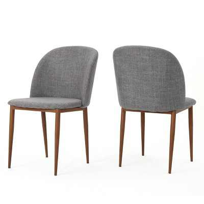 Set of 2 Anastasia Dining Chair Light Gray - Christopher Knight Home