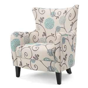 Arabella Club Chair White/Blue - Christopher Knight Home