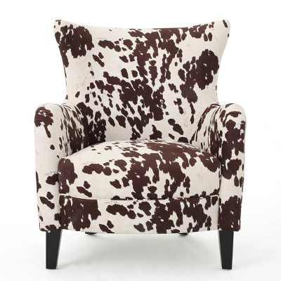 Arabella New Velvet Club Chair - Milk Cow - Christopher Knight Home