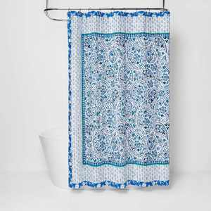 Bandana Print Shower Curtain Blue - Opalhouse™