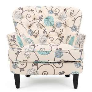 Tafton Floral Club Accent Chair - Christopher Knight Home