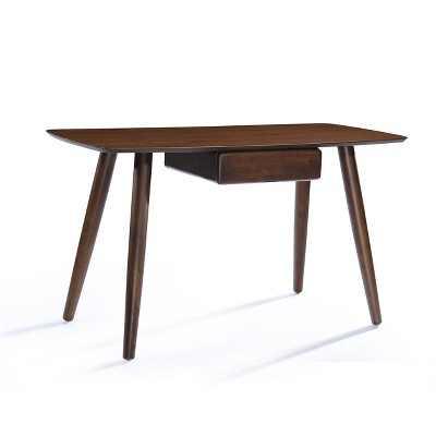 KierstenWood Writing Desk with DrawersWalnut - Christopher Knight Home