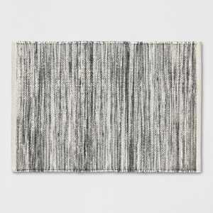 2'X3' Striped Metallic Woven Accent Rug Gray - Project 62™