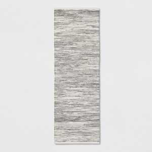 "2'4""X7' Striped Metallic Woven Accent Rug Gray - Project 62™"