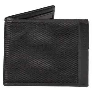 SWISSGEAR Men's Nylon Inlay Bi-Fold Black Wallet - Black One Size