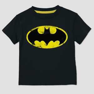 Toddler Boys' DC Comics Batman Short Sleeve T-Shirt - Black
