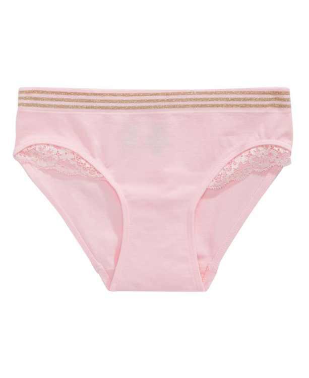 Lace-Trim Underwear, Little & Big Girls