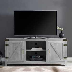 "2 Door Modern Farmhouse Barn Door TV Stand for TVs up to 65"" - Saracina Home"