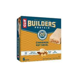CLIF Builders Protein Bars - Cinnamon Nut Swirl - 20g Protein - 6ct