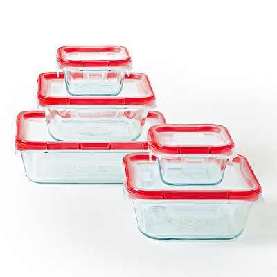 Pyrex 10pc FreshLock Glass Storage Set