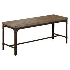 Scholar Vintage Industrial Dining Bench Gray - Buylateral