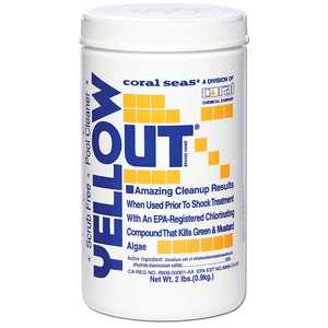 Yellow Out Swimming Pool Chlorine Shock Enhancing Treatment - 2 lbs., Used in conjunction with pool shock to safely remove green, yellow, brown, and pink algae from.., By Coral Seas from USA