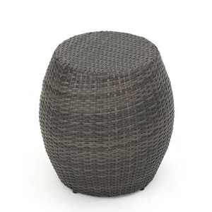 Canary Wicker Side Table - Gray - Christopher Knight Home