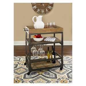 Collin Bar Cart Antique Bronze - Powell Company