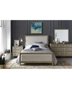 Parker Upholstered Bedroom 3-Pc. Set (Queen Bed, Dresser & Nightstand), Created for Macy's