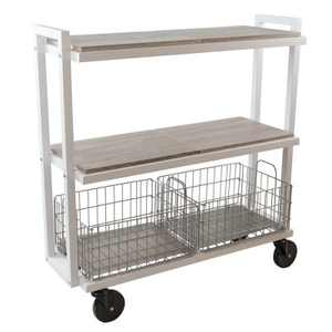 Cart System with wheels 3 Tier White - Atlantic