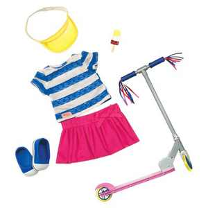 """Our Generation Cute to Scoot with Scooter Accessory Fashion Outfit for 18"""" Dolls"""